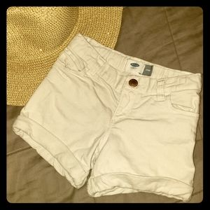 Old Navy 5T White Jean Shorts